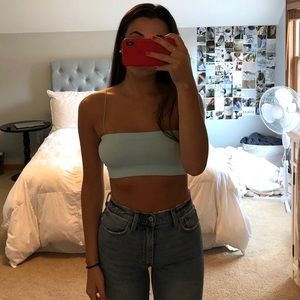 Urban Outfitters Blue Cropped Top/ Bra Top